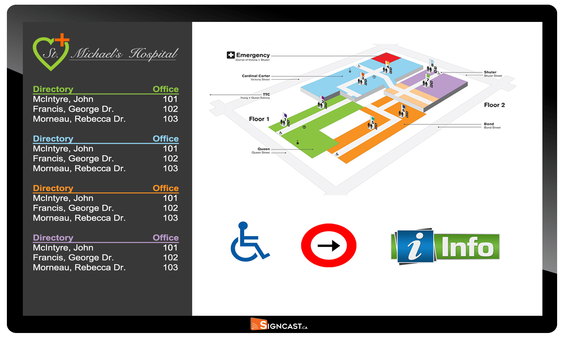 digital wayfinding boards toronto